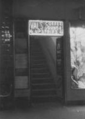 Entrance to Val's Coffee Lounge. Photo courtesy Estate of Val Eastwood