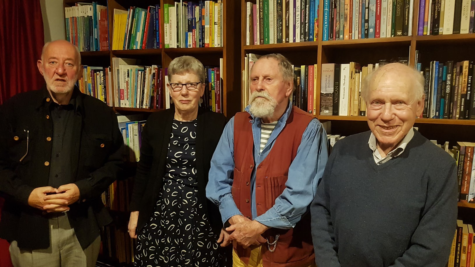 Four of the original members of the Homosexual Law Reform Society (left to right) Peter Sekuless, Elizabeth Reid, James Grieve, Thomas Mautner