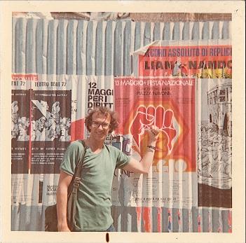 Dennis Altman, Italy, 1975, (photo: unidentified photographer), Papers of Dennis Altman