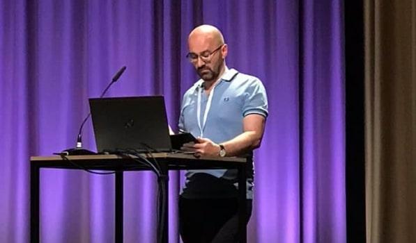 Richard Keeble presenting at ALMS 2019, Berlin (Photo: Nick Henderson)