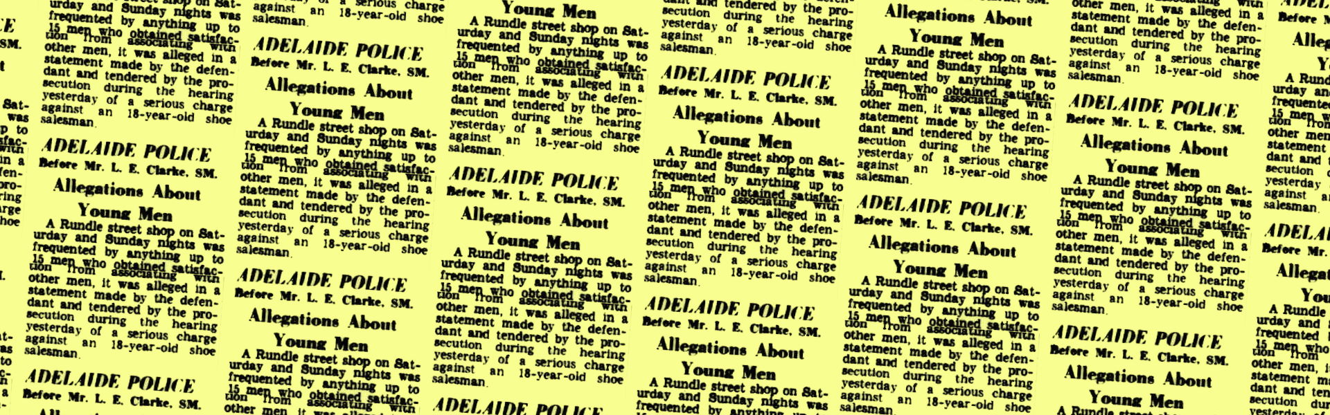 Allegations about young men, Advertiser (Adelaide, SA), 22 February 1950, p5 – Banner