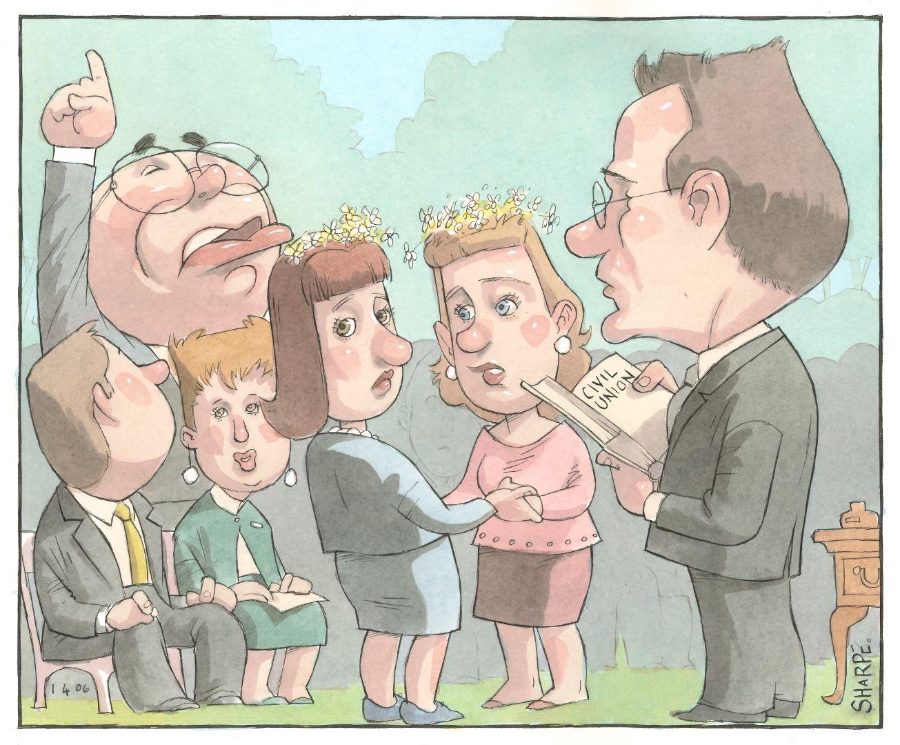 [Prime Minister John Howard quashes ACT Civil Union Bill] - Ian Sharpe, 1 April 2006, Papers of Nick Henderson