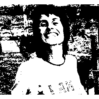 Lyn Cooper wearing an 'I am a lesbian' t-shirt, International Women's Day, Adelaide, 1974, Jill Matthews Collection (Photo: unidentified photographer)