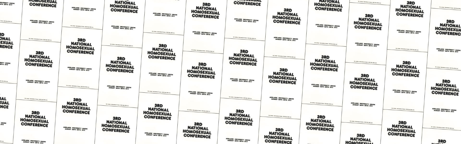 3rd National Homosexual Conference (Adelaide, SA, 1977) A255 – Banner Web