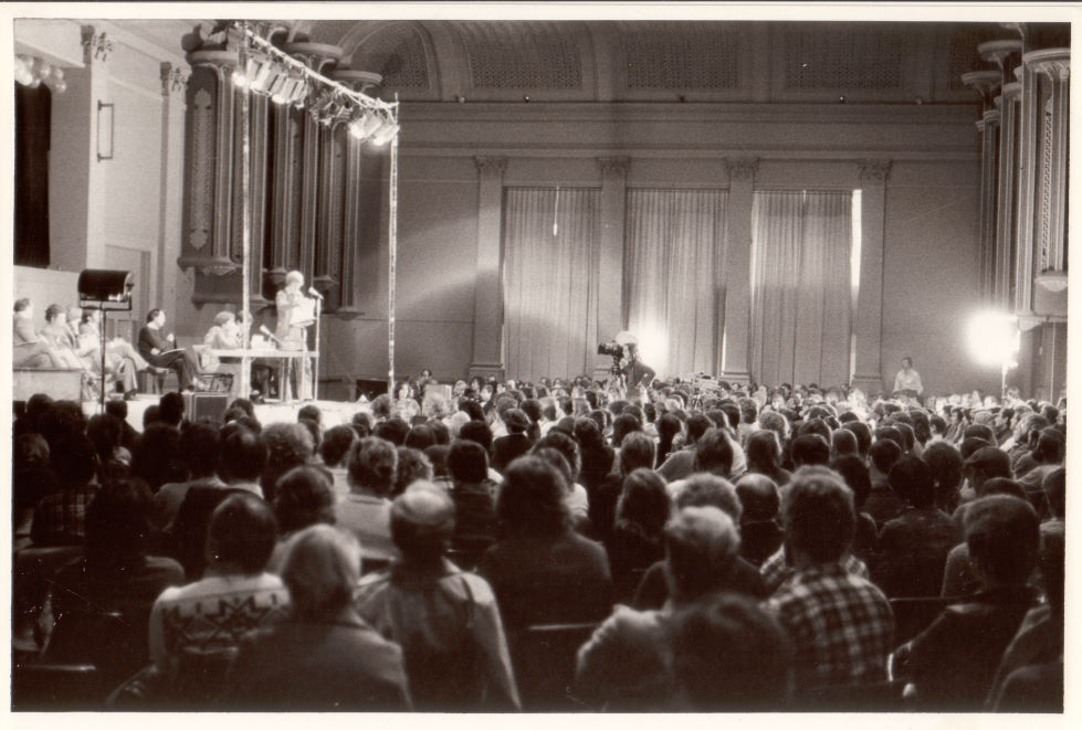Public Forum on Discrimination, 4th National Homosexual Conference, Paddington Town Hall, Sydney, 26 August 1978 (photo: Chris Jones) Campaign Collection