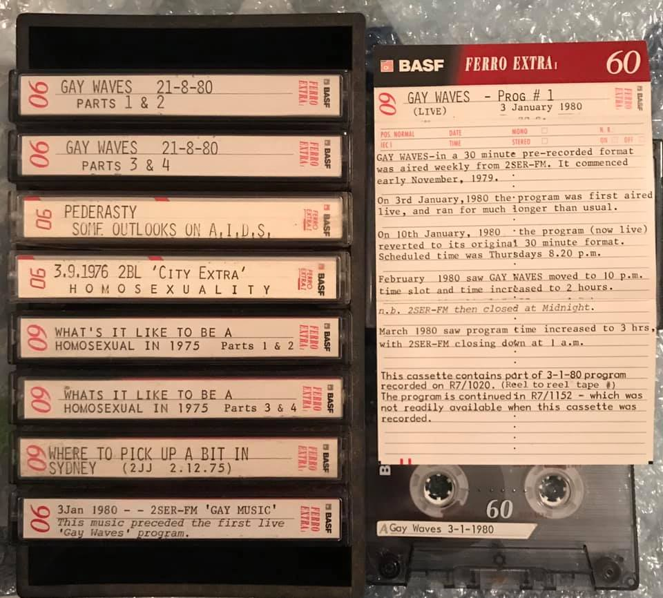 Audio Cassettes, 1975-1980, Bill West Collection