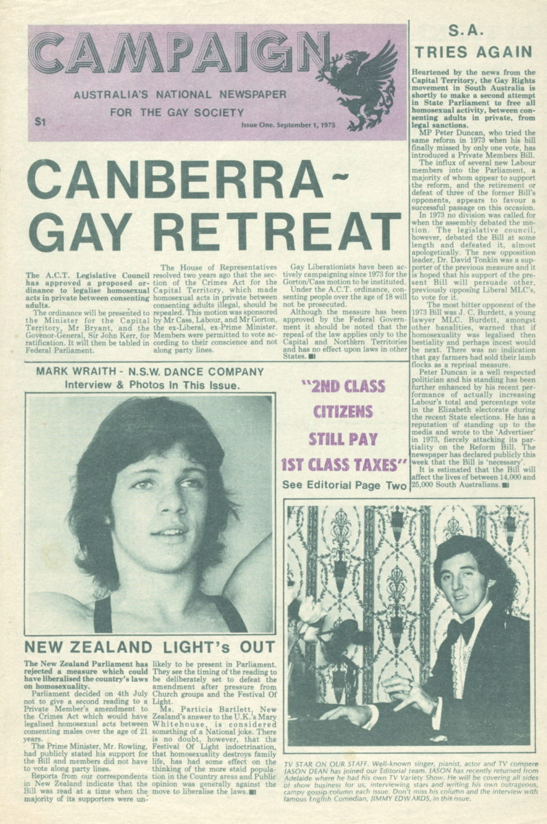 Campaign, n.1, 1 September 1975, Periodical Collection