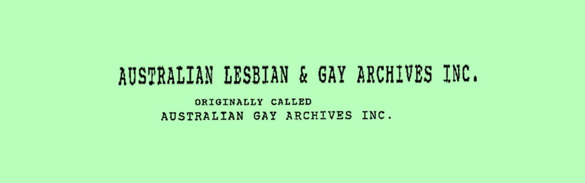 Certificate of incorporation, 1991, Records of ALGA – Banner Web