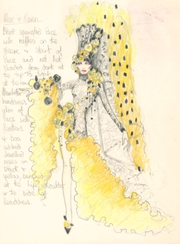 Costume design for Rose and Karen, The Line Up – Anthony Thompson, 1975, Papers of Rose Jackson