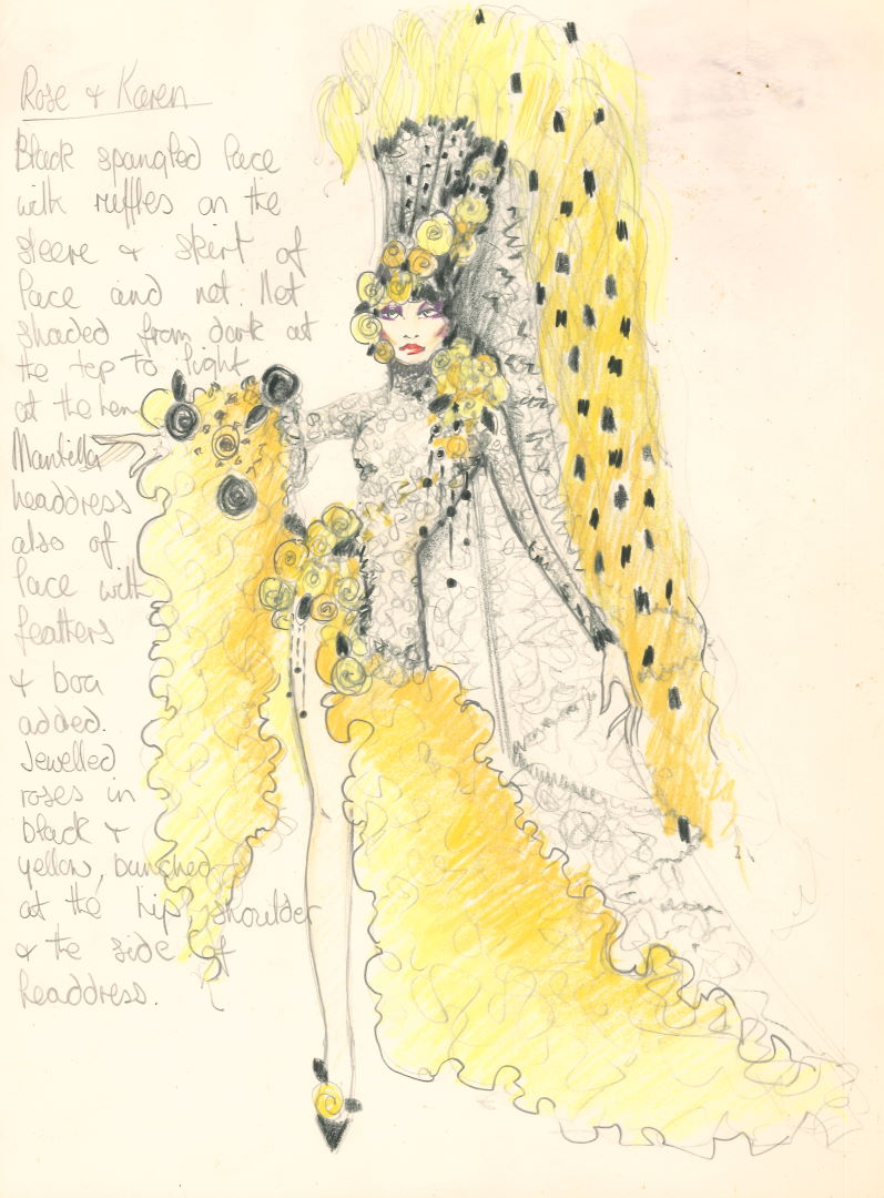 Costume design for Rose and Karen, The Line Up - Anthony Thompson, 1975, Papers of Rose Jackson
