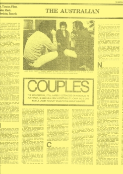 Couples / Janet Hawley, The Australian (Sydney, NSW), 19 September 1970, p15, Newspaper Clipping Collection