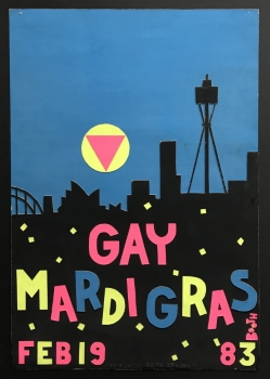 Design for the Gay Mardi Gras – Allan Booth, 1983, Grant Kilby Collection