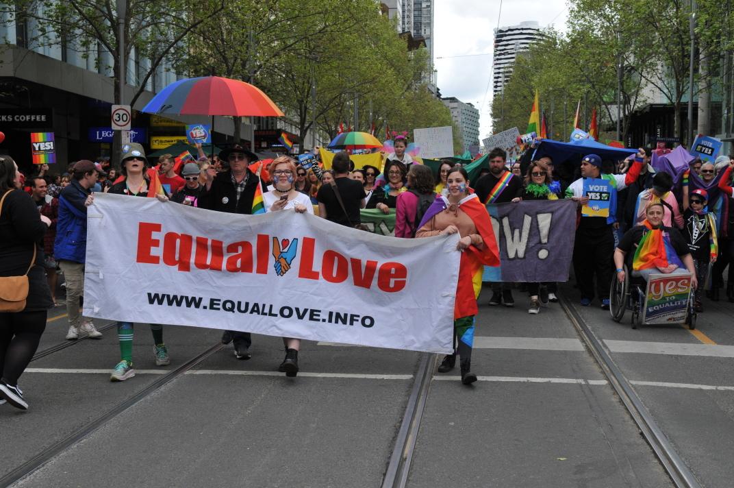 Equal Love Rainbow March, Melbourne, 10 January 2017, Michael Barnett Collection (Photo: Michael Barnett)