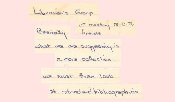 Gay Librarians Group, Liz Ross notes, 6 pp, c.Feb-Mar 1976 – Feature Web