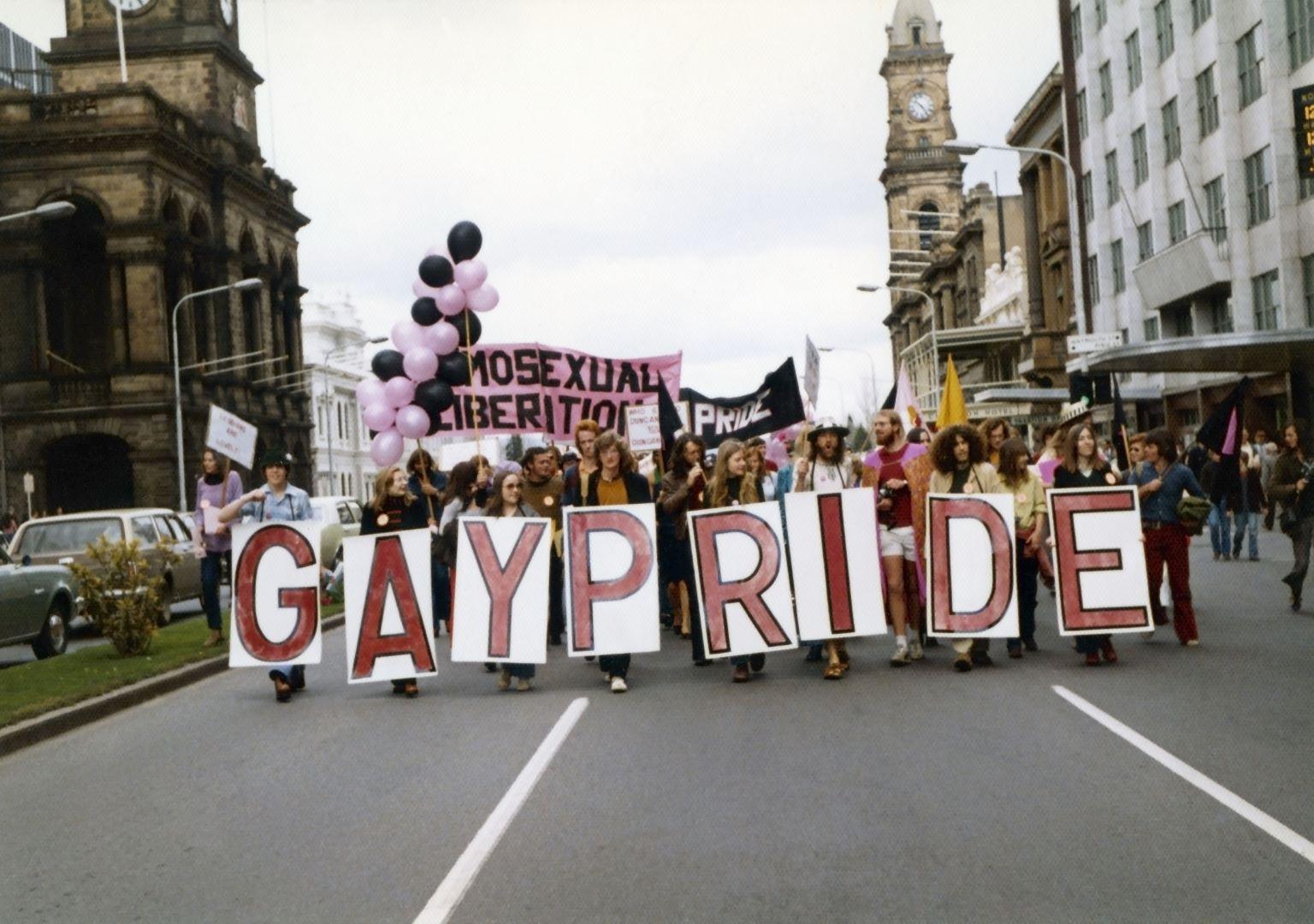 Gay Pride Week march, Adelaide, 15 September 1973, Jill Matthews Collection (Photo: Jill Matthews)