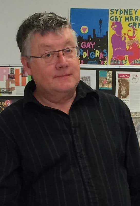 Graham Willett at ALGA, South Yarra, 30 September 2016 (Photo: Nick Henderson)