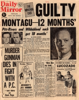 Guilty – Montagu-12 months', Daily Mirror (London, UK), 25 March 1954, p1