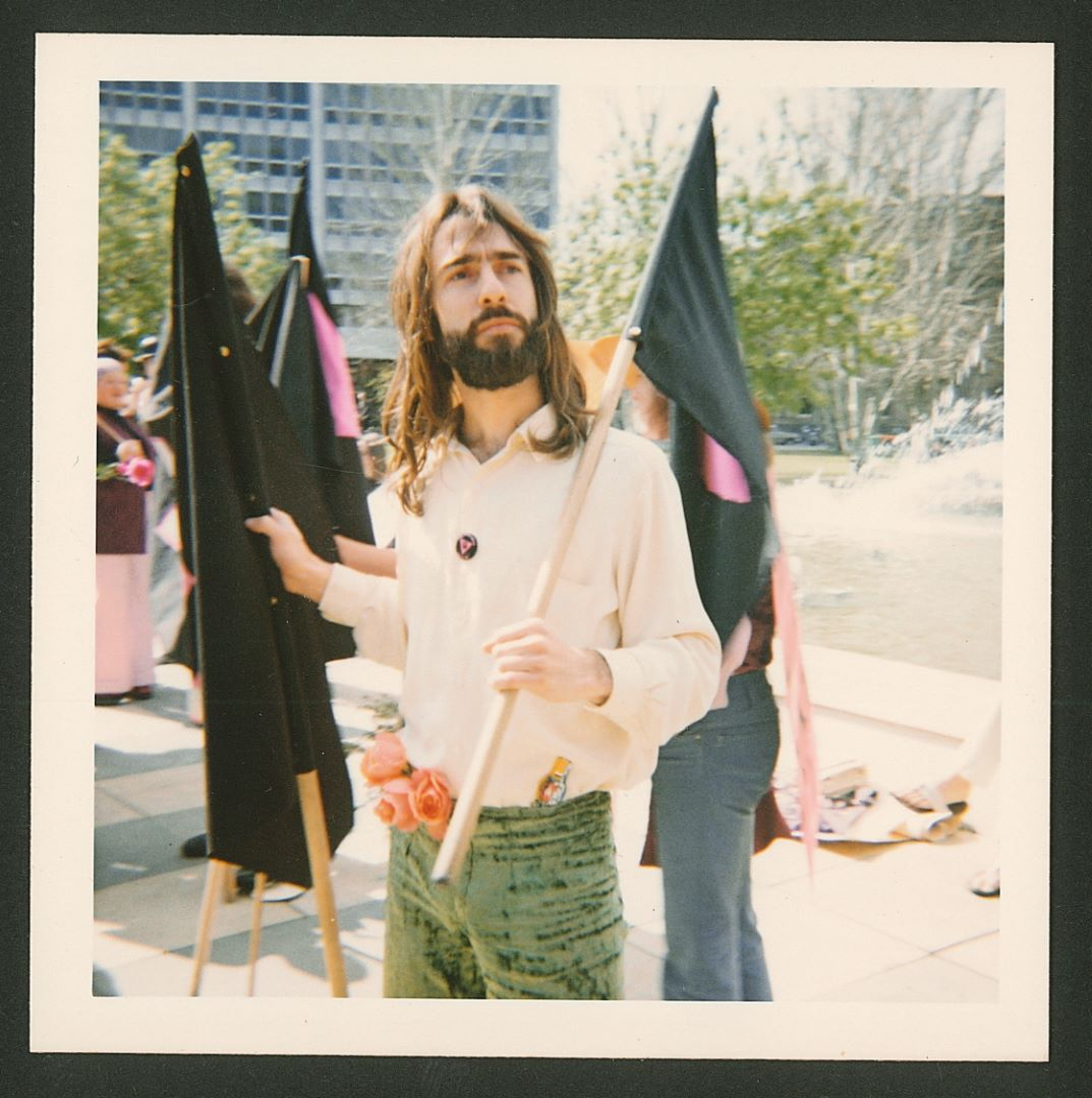 John Lee at Gay Pride Week March, Victoria Square, Adelaide, 15 September 1973 (Photo: unidentified photographer), Jill Julius Matthews Collection