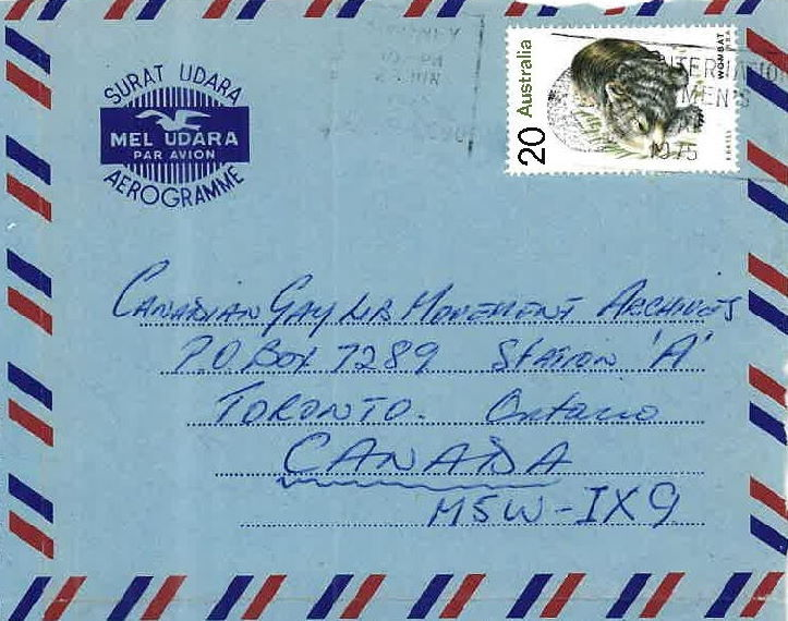 Leon Prollius letter to James Fraser, 23 June 1975, Collection of the Canadian Gay Archives