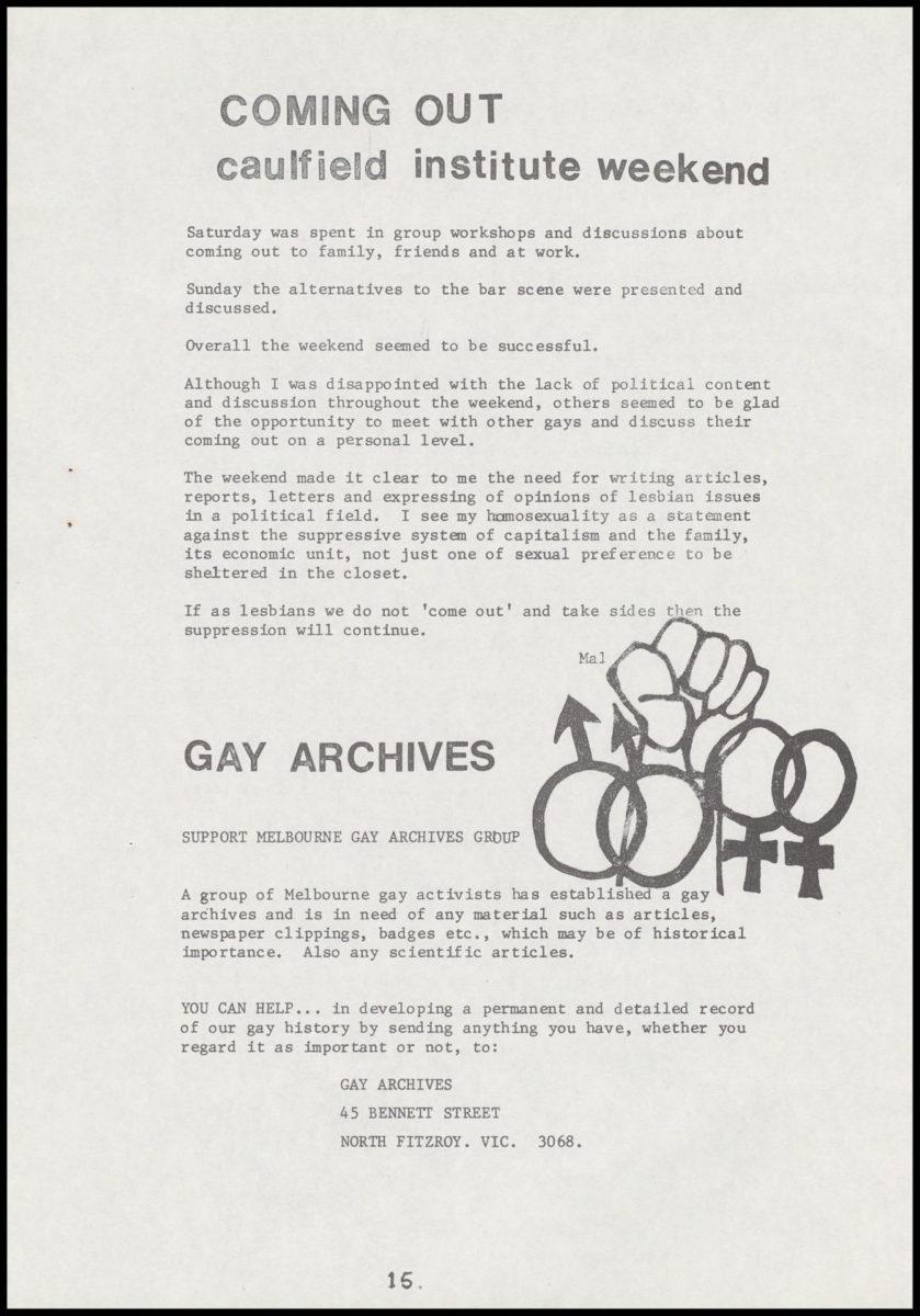 Lesbian Newsletter n.12, August 1978, p.15