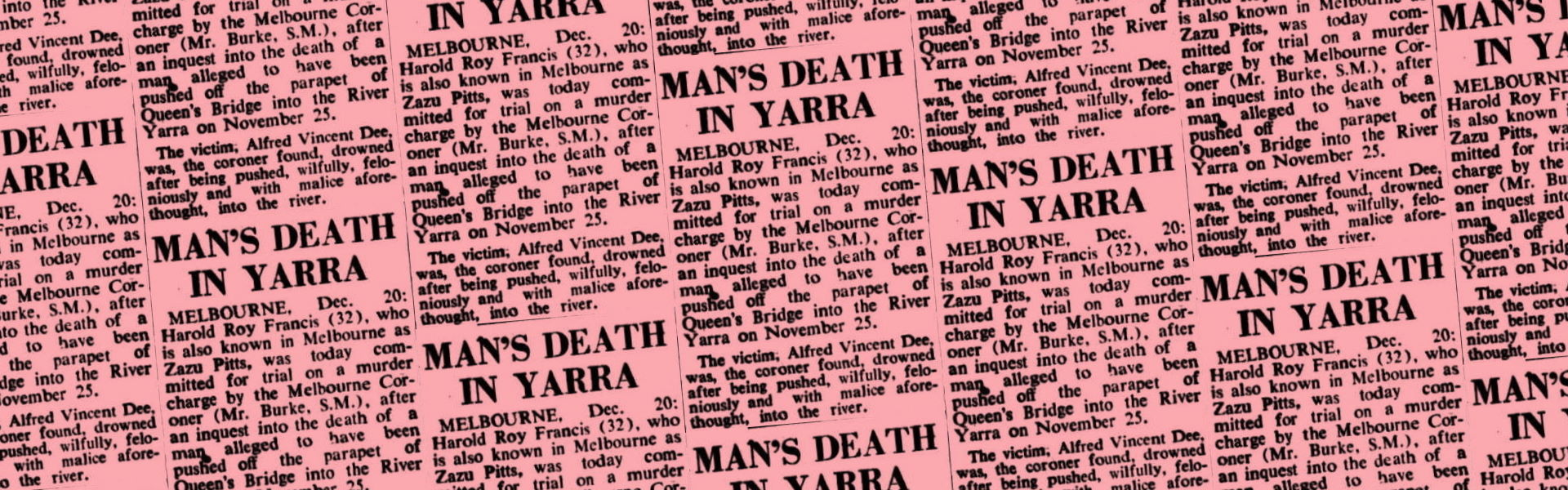 Man's Death in Yarra, West Australian (Perth, WA), 21 December 1950, p3, Newspaper Clipping Collection