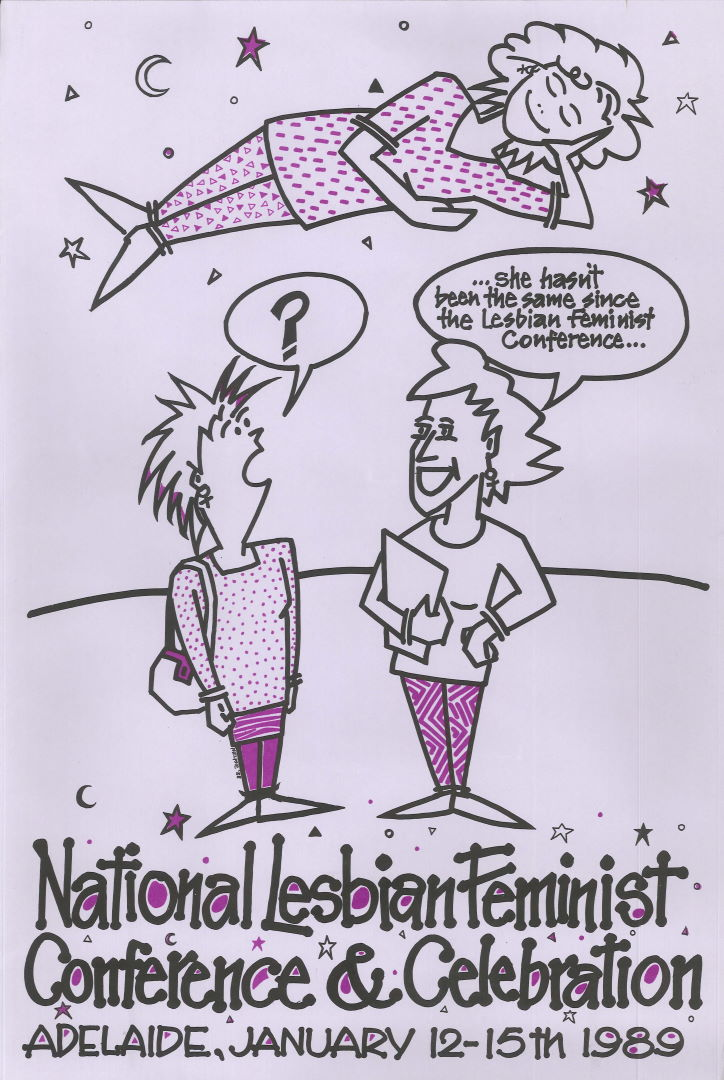 National Lesbian Feminist Conference & Celebration (Adelaide, SA, 1989), Poster Collection D083
