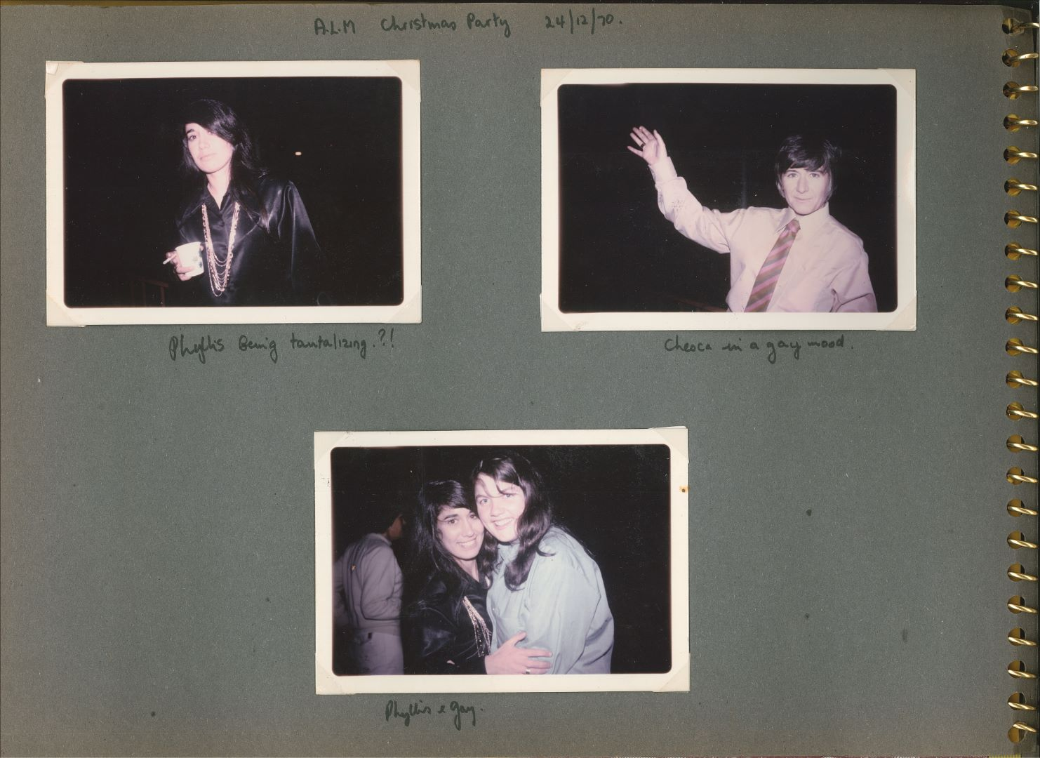 Photo album compiled by Phyllis Papps and Francesca Curtis, 1970-1972, p2, Papers of Phyllis Papps and Francesca Curtis