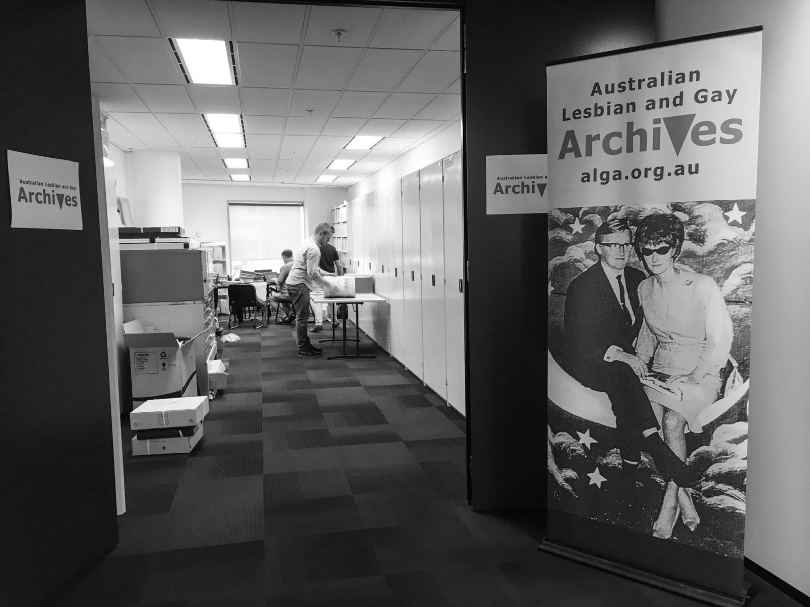 (L-R) Grahan Willett and Nick Henderson, ALGA Reading Room, 615 St Kilda Road Melbourne, 2017 (photo: Kathy Sport)