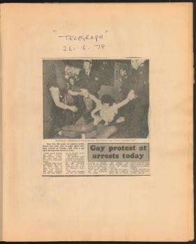 Scrapbook compiled by Digby Duncan relating to the First Mardi Gras, 1978, p5, Papers of Digby Duncan
