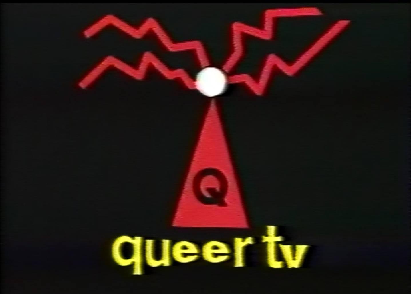 [Still from Installation at The Bookshop Darlinghurst] (Sydney Queer TV, 1994)