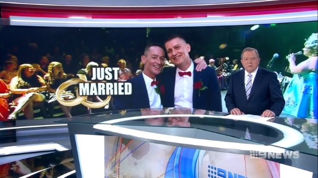 [Still from Just married] (Melbourne Channel Nine News Melbourne, 11 January 2018)