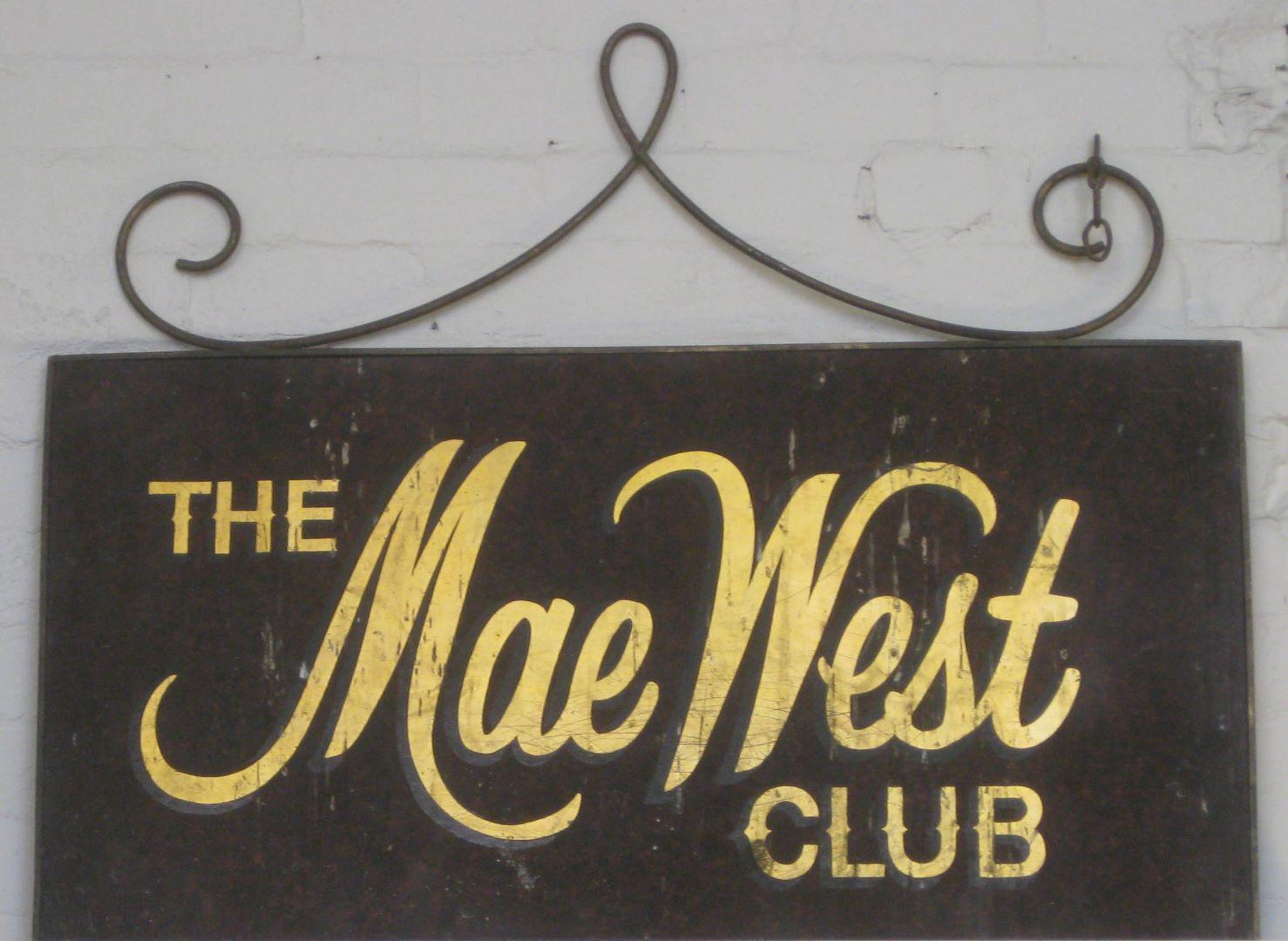 The Mae West Club [sign], c.1969