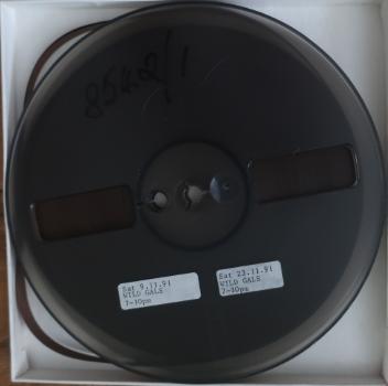 Wild Gals Sat 9.1.91 7-10pm ¼ inch tape, [1991], Bill West Collection
