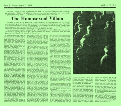 The homosexual villain, Lot's Wife (Melbourne, Vic), 10 April 1964, p4, Newspaper Clipping Collection