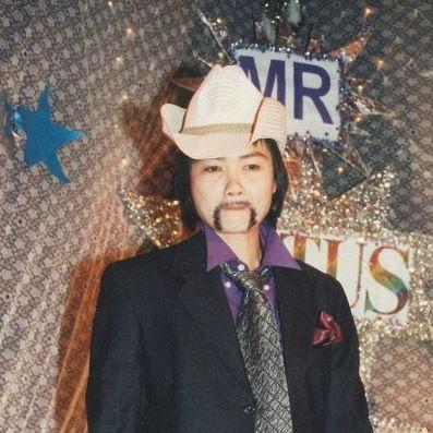 Drag King Ray, an entrant in Mr Lotus 2001 (Photo: Ryan Hsu) B-News Collection