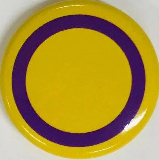 [Intersex pride flag] (c.2019) Badge Collection, 9-12-01